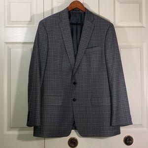CLAIBORNE Grey Checkered Blazer